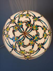 Lamp 29 Lintenvlechtwerk blauw