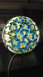 Lamp 'blauwe bloempjes'