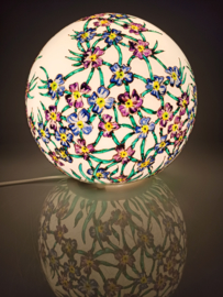 Lamp 52 Fijne paarse en blauwe bloempjes