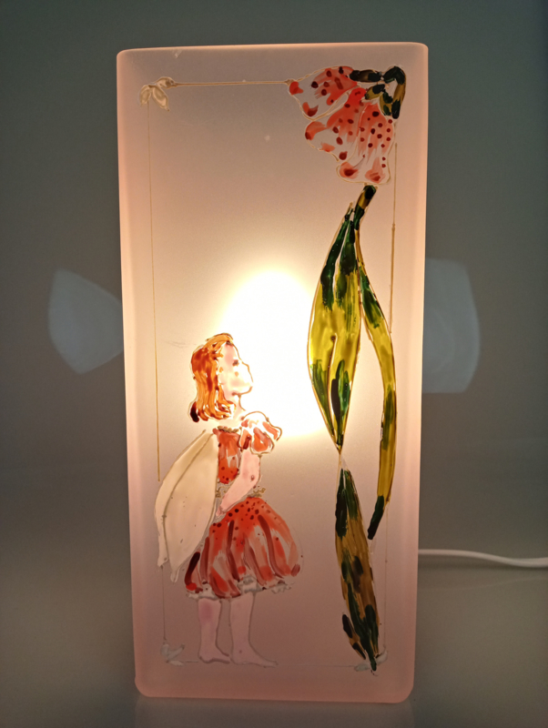 Bloklamp roos elfje