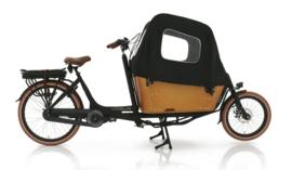 Vogue Carry tweewieler bakfiets mat zwart / bruin