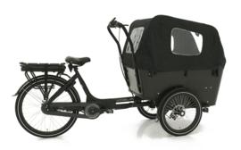 Vogue Carry bakfiets zwart  met middenmotor