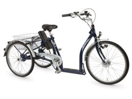 Pfiff Napoli 2 elektrische driewieler D 44 Cm 3 Sp remnaaf staal blauw