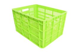 Kunststof krat groen Medium