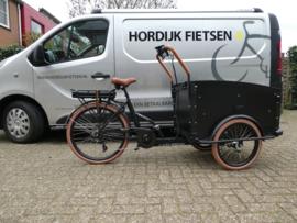 Troy elektrische bakfiets 7 Speed / zwart bruin