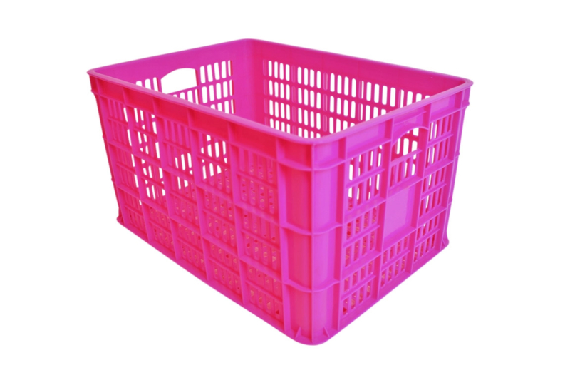 Kunststof krat roze Medium