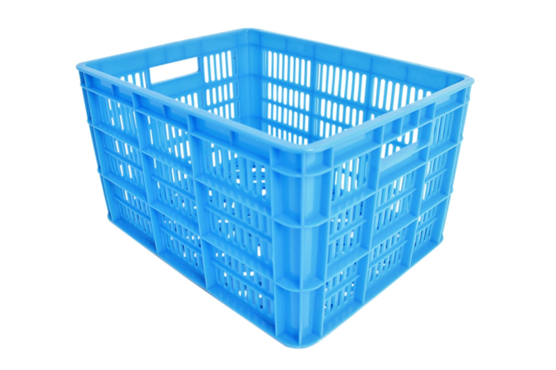 Kunststof krat blauw Medium