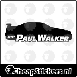 RIP PAUL WALKER SKYLINE STICKER