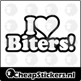 I LOVE BITERS STICKER