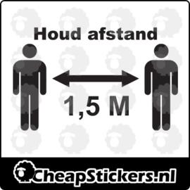 HOUD 1,5M AFSTAND STICKER