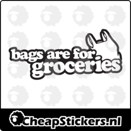 BAGS FOR GROCERIES STICKER