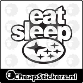 EAT SLEEP SUB STICKER