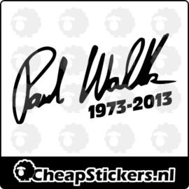 PAUL WALKER HANDTEKENING STICKER