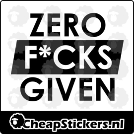 ZERO FUCKS GIVEN STICKER