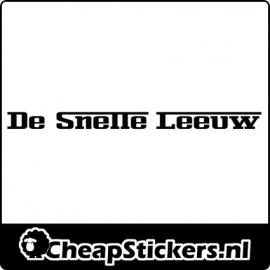 DE SNELLE LEEUW STICKER