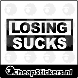 LOSING SUCKS STICKER