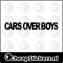 CARS OVER BOYS STICKER