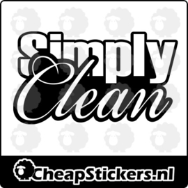 SIMPLY CLEAN STICKER