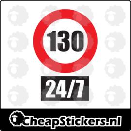 130 24/7 STICKER
