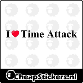 I LOVE TIME ATTACK STICKER