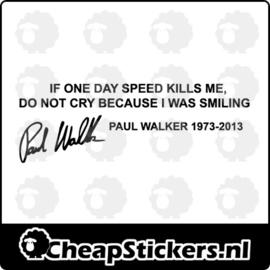 PAUL WALKER STICKER
