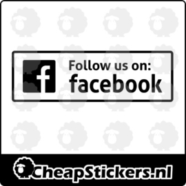 FOLLOW US ON FACEBOOK STICKER