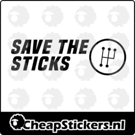 SAVE THE STICKS STICKER