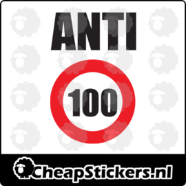 ANTI 100 STICKER