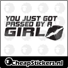 PASSED BY GIRL STICKER