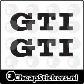 VW GTI REMKLAUW STICKERSET