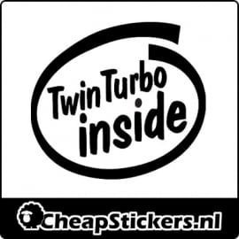 TWIN TURBO INSIDE STICKER