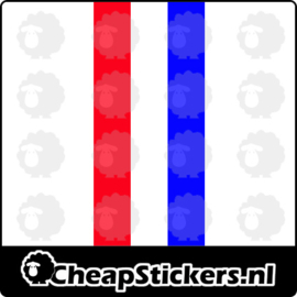 STRIPING ROOD WIT BLAUW