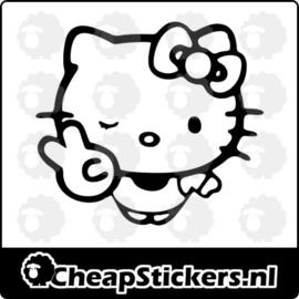 HELLO KITTY PEACE STICKER