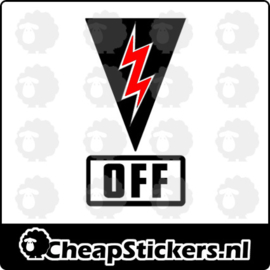 CUT OFF SWITCH STICKER