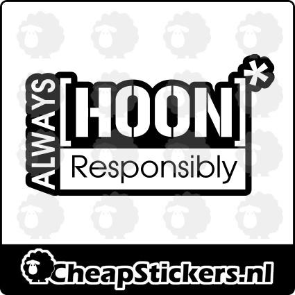 HOON RESPONSIBLY STICKER
