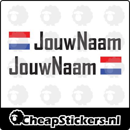 AGENCY NAAM STICKERSET MET NL VLAG (1 NAAM)