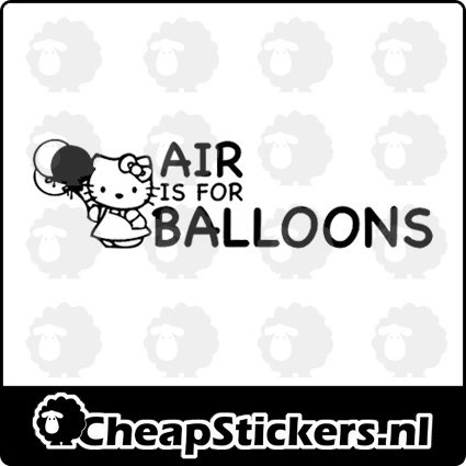 AIR IS FOR BALLOONS STICKER