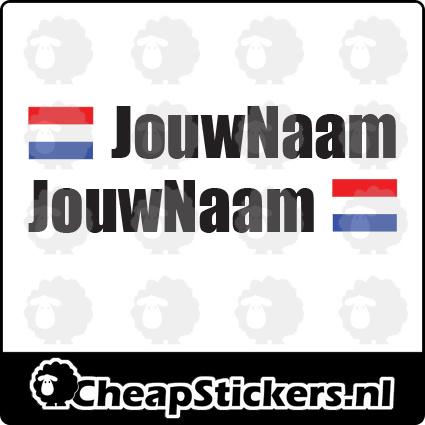 IMPACT NAAM STICKERSET MET NL VLAG (1 NAAM)