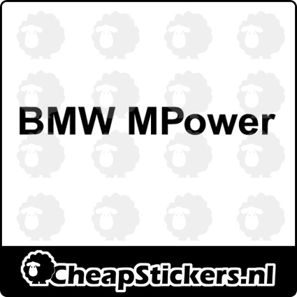 BMW MPOWER RAAMBANNER