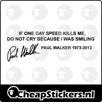 PAUL WALKER STICKER