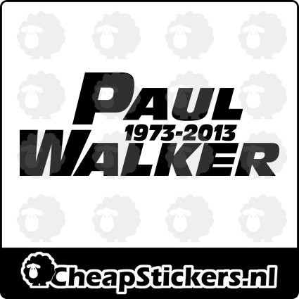 PAUL WALKER 1973-2013 STICKER