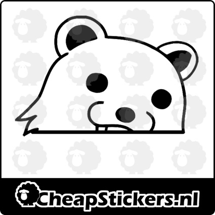 PEDO BEAR FACE STICKER