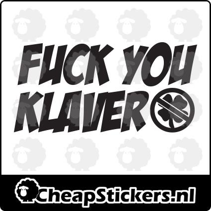 F*CK YOU KLAVER STICKER