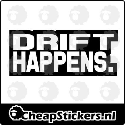 DRIFT HAPPENS STICKER