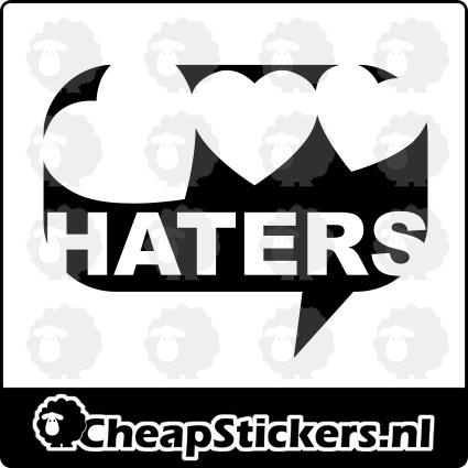 HATERS HART STICKER