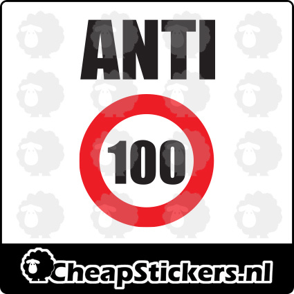 ANTI 100 STICKER