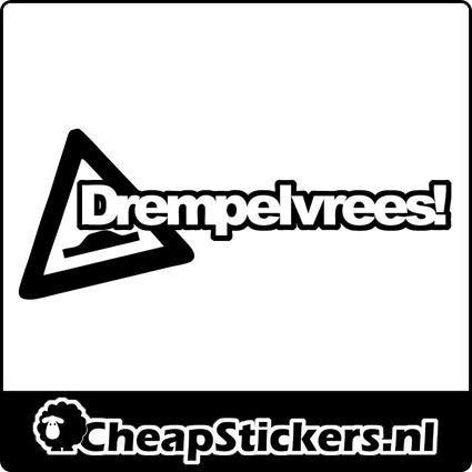 DREMPELVREES STICKER
