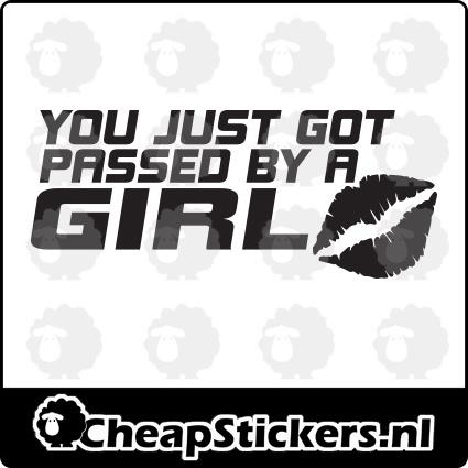 PASSED BY GIRL STICKER