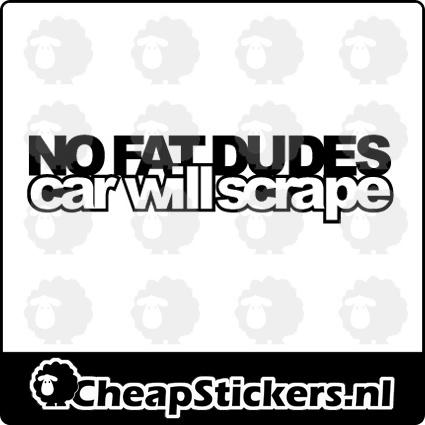NO FAT DUDES STICKER