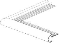 Daktrim roval aluminium  kraal 26 mm - buitenhoek
